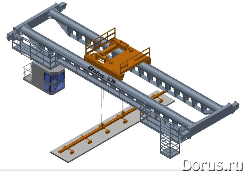 Кран мостовой опорный двухбалочный - Промышленное оборудование - Организация спроектирует изготовит..., фото 1