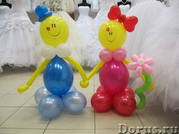 Как сделать мальчика из шаров