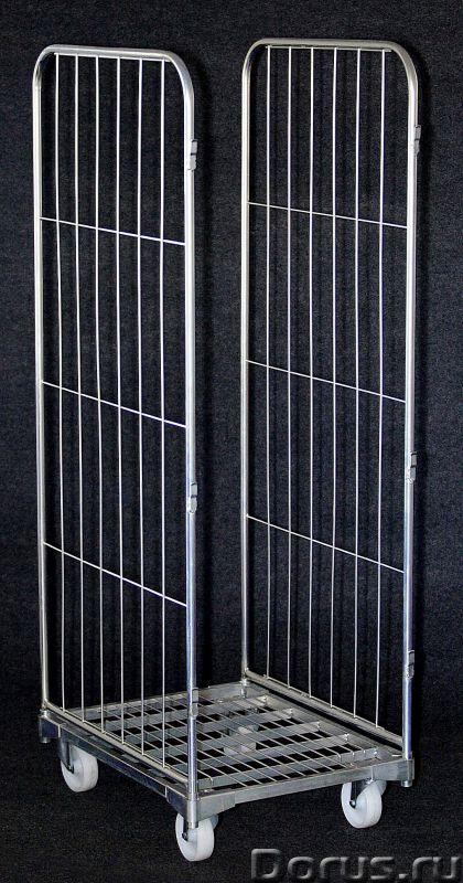 Сетчатый контейнер - Торговое оборудование - Артикул СК 0710/20 Внешние размеры, мм 800x600x1700 (вы..., фото 1